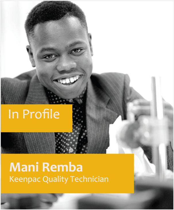 Keenpac Quality Technician - Mani Remba
