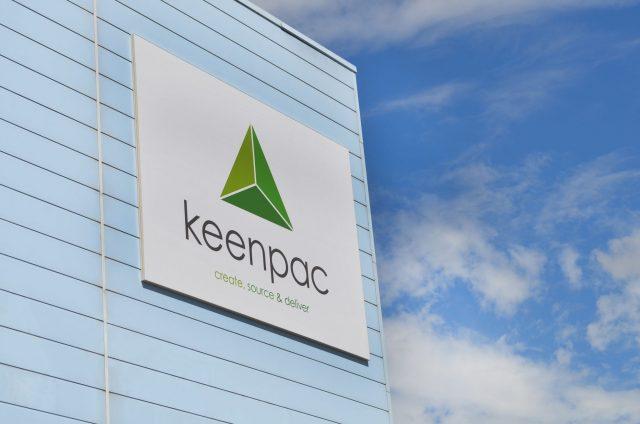 Keenpac Rebrand signage